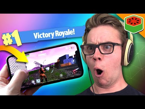 fortnite battle royale mobile gameplay check out the new mobile app and an awesome game i had on it - mr fruit fortnite
