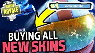 BUYING ALL THE NEW SKINS!! SEASON 3 #1 VICTORY ROYALE | FORTNITE BATTLE ROYALE