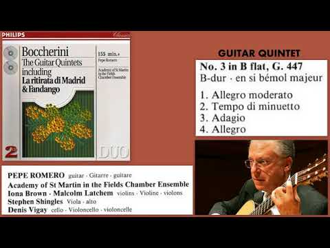 Luigi Boccherini: Quintet for guitar and strings, No.3, in B flat, G.447, Pepe Romero