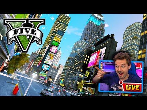 GTA 5 LIVE Liberty City Mod - Exploring Liberty City In GTA 5! (REAL LIFE MOD)