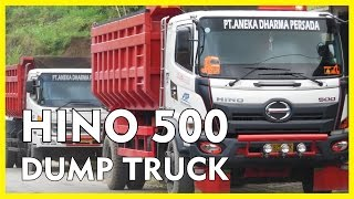 All New Dump Truck Hino 500 Convoy Down Uphill Road