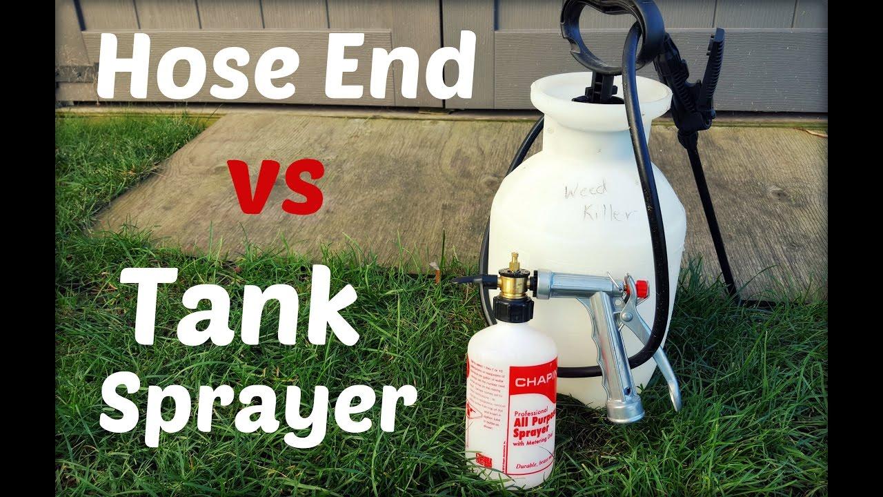Lawn Update 30 - Spraying Weeds - Hose End vs Tank Sprayer