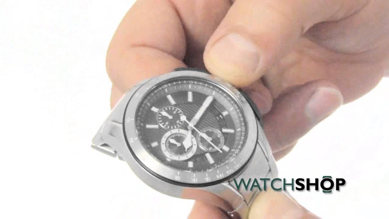 Men s Armani Exchange Zero Light Chronograph Watch (AX1403) - YouTube df39f9ee79
