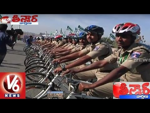 Car Free Thursday by Cyberabad Police | Teenmaar News | V6 News