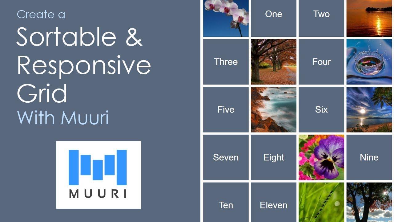 Create a Sortable & Responsive Grid With Muuri