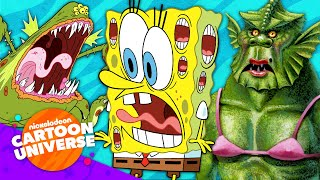 38 Of SpongeBob's Weirdest Sea Monsters! 😱 | Nickelodeon Cartoon Universe