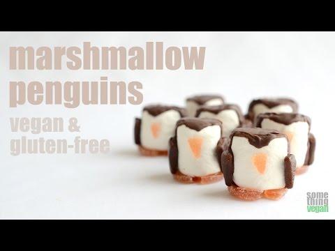 marshmallow penguins (vegan & gluten-free) Something Vegan