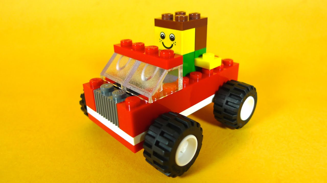 how to build lego car easy build 10681 lego creative building cube creations for kids youtube