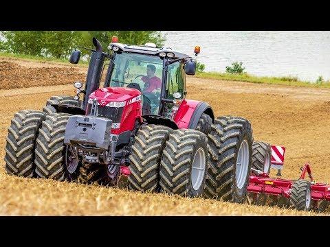 Massey Ferguson 8690 + 8660 Traktoren - Mais Drillen - Maize seeding - Agrartechnik HD