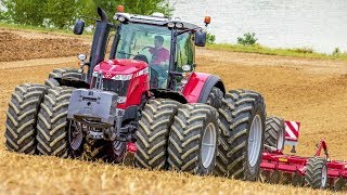 Massey Ferguson 8690 + 8660 Traktoren - Mais Drillen - Maize seeding - Agrartechnik HD