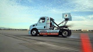 SIZE MATTERS - EPIC GYMKHANA Semi Truck  Drift Stunt Feature