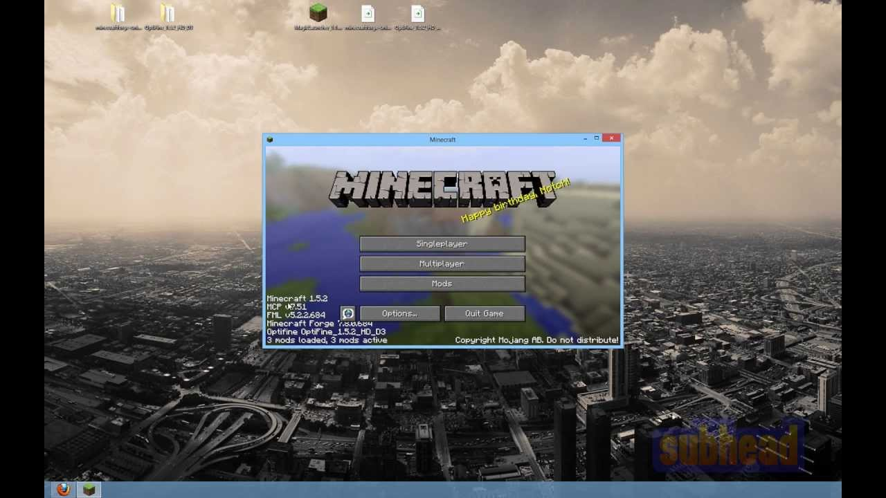 Optifine hd 1. 5. 1 / 1. 5. 2 mod download and install guide.