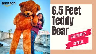 6 5 Feet Teddy Bear Unboxing Valentine Giant Teddy Unboxing Best Birthday Gift For Girlfriend
