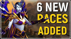 "6 NEW PLAYABLE RACES! WoW: Battle for Azeroth ""Allied Races"" Preview!"