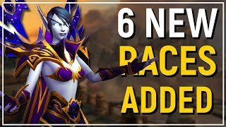 6 NEW PLAYABLE RACES! WoW: Battle for Azeroth Allied Races Preview!