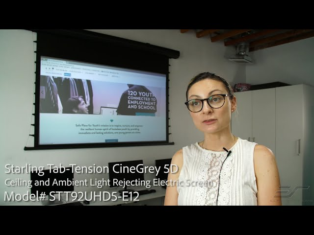 Elite Screens Starling Tab-Tension with CineGrey 5D® Screen Material - Client Testimonial