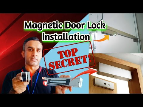 Magnetic Lock Installation || How to Install Electro Magnetic Door Lock || Mag Locks