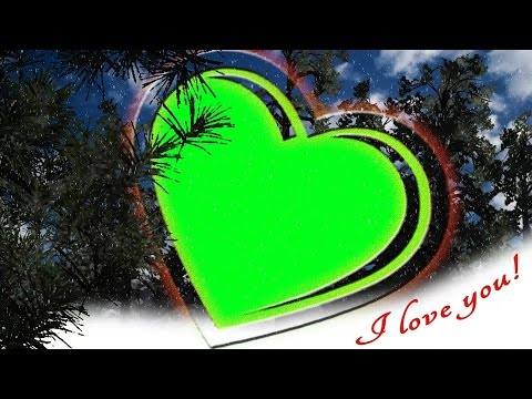 Photo Frame -  Love, Valentine's Day Greetings -  Green Screen 2
