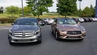 Mercedes-Benz GLA250 and Infiniti QX30 Comparison