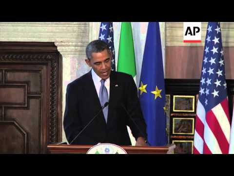 President Obama and PM Renzi give news conference, comment on Ukraine