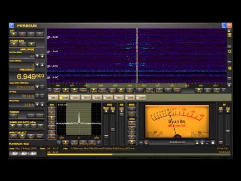 "6949.5 kHz Shortwave Pirate ""Toynbee Radio"" heard in Michigan on Perseus SDR"