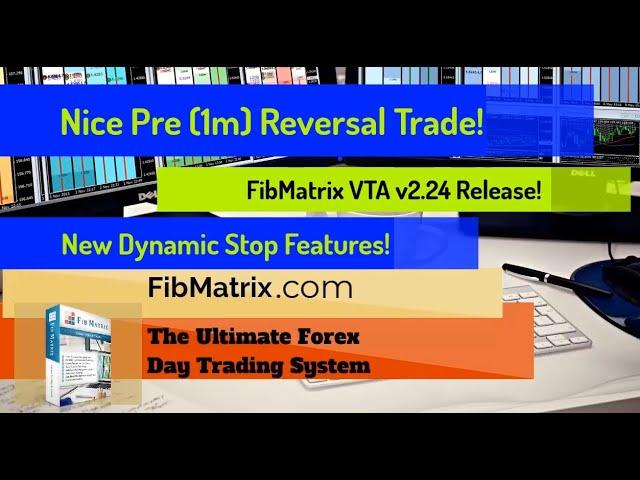 Nice Autopilot Pre Reversal Trade 20 Pips! FibMatrix VTA v2.24 Automated Forex Trading Software