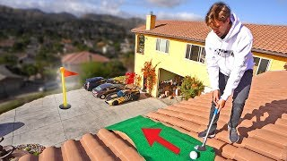 EXTREME HOMEMADE MINI GOLF COURSE! *10 HOLES*