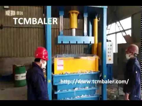 TCM BALER-Used clothes clothings pressing baler textiles baling machine Sudan Tunisia Iceland