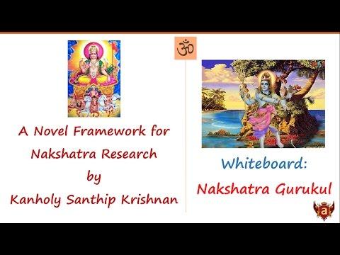 Whiteboard: A Novel Framework for Nakshatra Research by Dr. Kanholy Santhip Krishnan