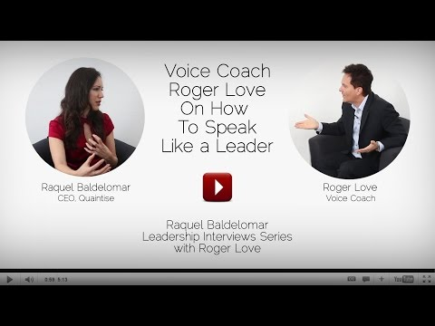 Renowned Voice Coach Roger Love Shares Advice On How To Speak Like A Leader