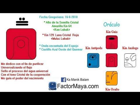 Luna Cristal. Sabado 16 Junio 2018. Emociones. Cooperar. Kin 129. FactorMaya.com