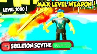 UNLOCKING THE LEVEL 1000 WEAPON IN SLAYING SIMULATOR!! *BEST IN GAME* (Roblox)
