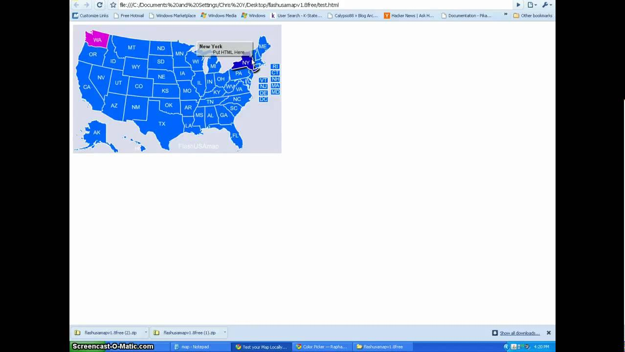Interactive USA Map Flash Tutorial YouTube - How to add clickable us map to webpage