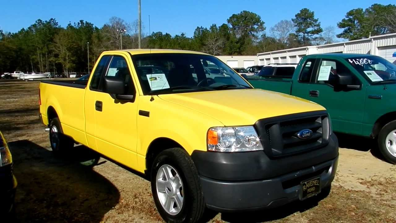 2006 ford f 150 xl regular cab 1 owner for sale ravenel ford youtube. Black Bedroom Furniture Sets. Home Design Ideas