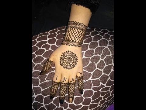 Elegant Latest Heena Traditional||Circular||Mehndi Designs For Back Hands 2017