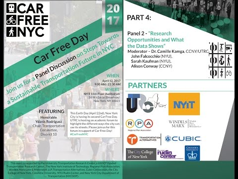 Part 4 - Car Free Day - An Academic Panel on Research Opportunities!