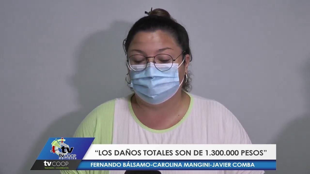 San Guillermo: Los daños por la tormenta fueron de 1.300.000 de pesos para la municipalidad