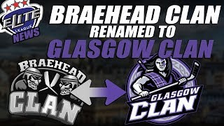 EIHL News - Braehead Clan Renamed to Glasgow Clan