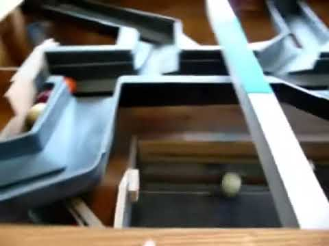 Coin Operated Pool Table Tracks With Slate Off Youtube