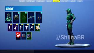 LEAKED -NOUVEAU INSTINCT vitrine de la peau avec BACKBLING Fortnite Battle Royale
