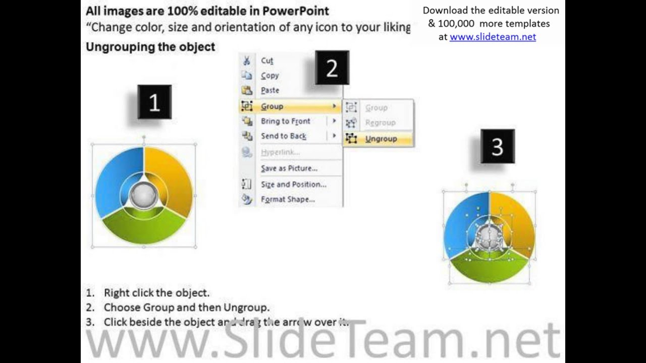 Circular Project Management Diagram Business Plan Template - Business plan template powerpoint