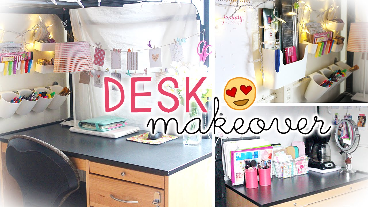 Desk Makeover U0026 Hacks (Dorm Wall Storage U0026 Decor)   YouTube Part 21