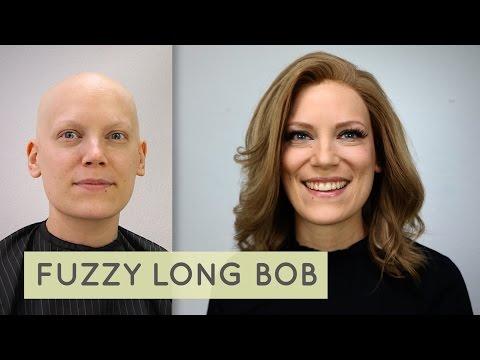 Fuzzy Long Bob bei einer Stockperücke - Haarausfall durch Chemotherapie - Wig Tutorial