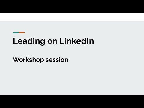 Leading on LinkedIn part 1