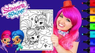 Coloring Shimmer and Shine Genies Coloring Page Prismacolor Paint Markers | KiMMi THE CLOWN