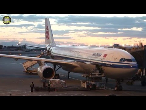Air China Airbus 330-300 Business Class Beijing to Manila [AirClips full flight series]
