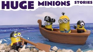 minions huge funny toy story video with thomas friends cars toys play doh peppa despicable me