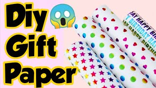 Diy Gift Paper - Homemade gift wrapping paper/ how to make wrapping paper/ Make your own  gift paper
