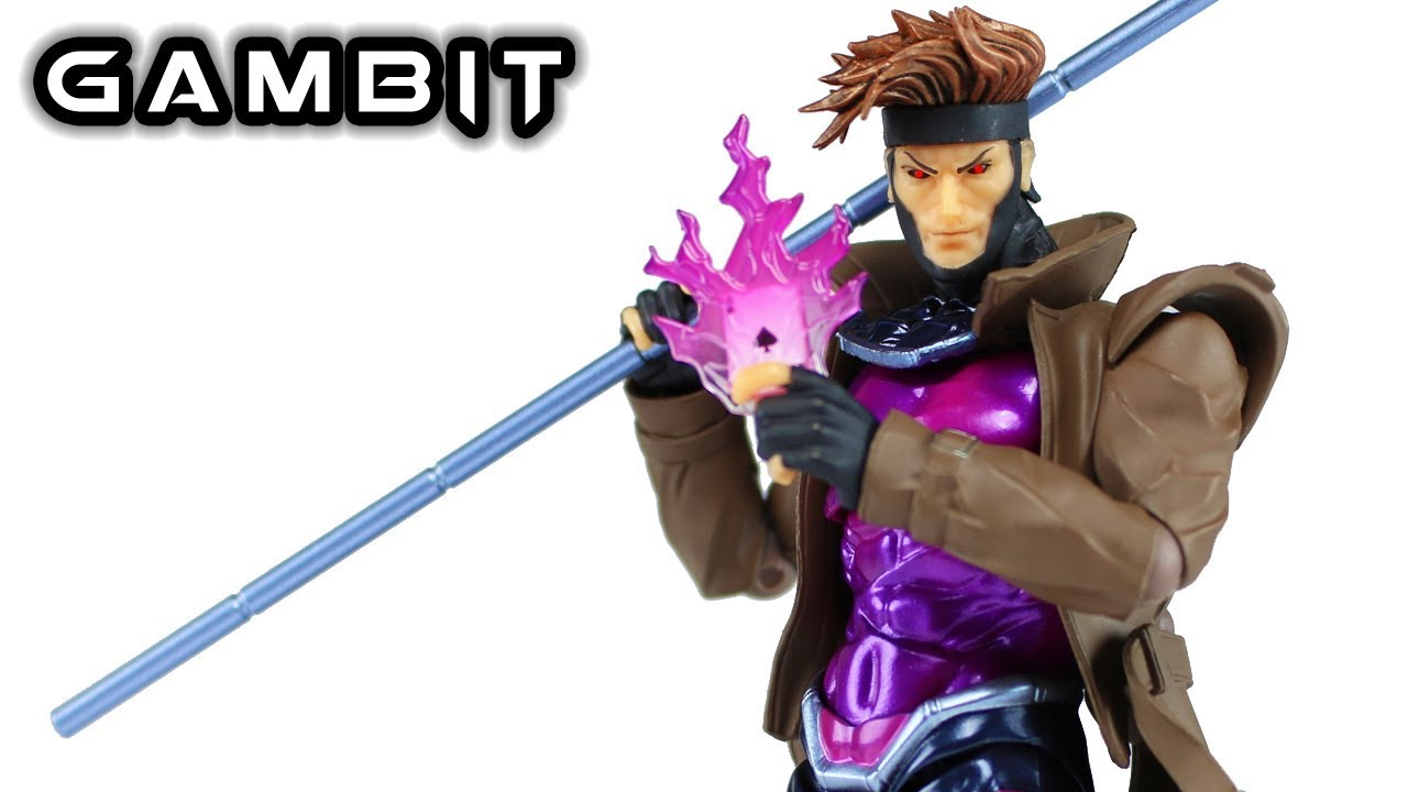 New Kaiyodo Marvel Amazing Yamaguchi Revoltech No.012 Gambit Action Figure