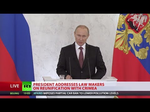 Putin: Crimea similar to Kosovo, West is rewriting its own rule book (FULL SPEECH)